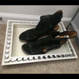 Miz Mooz Becca Black Leather Sandals